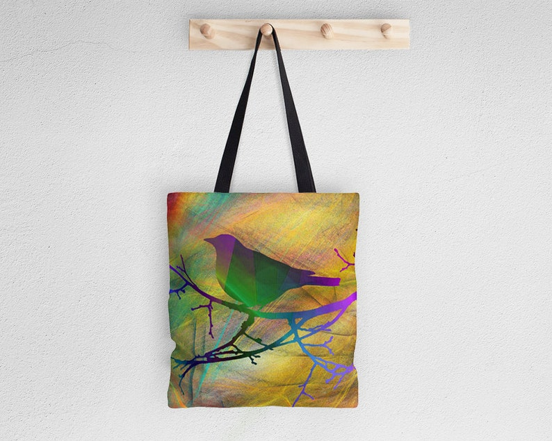 Unique tote bags for women Bird tote bag Nature lover gift Art tote bag Quality tote bag Bap072 Animal bag Shopping bag