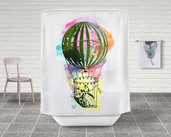 Hot Air Balloon Shower Curtain, Bathroom ...