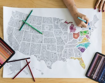 US Map Coloring Pages, USA Map Coloring Page, Coloring Page Travel Map, USA Coloring Page Map, Coloring Poster Usa, Giant Coloring Pages Usa