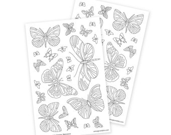 Grown Up Coloring Stickers, Passion Planner Stickers, Mandala Stickers, Planner Addict, Rainbow Butterfly Decals, Mandala Coloring Sheets