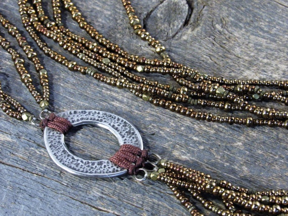 Silpada necklace sterling silver pendant multi strand metallic etsy image 0 aloadofball Images