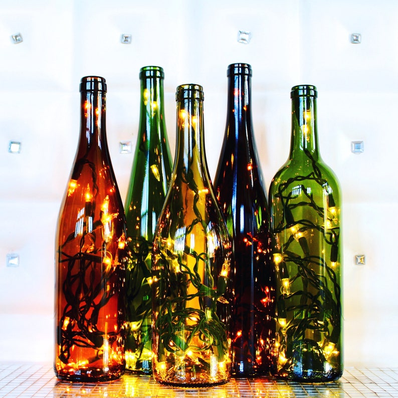 Lighted Wine Bottle Lamp image 0