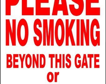 924b0aad5 NO SMOKING Sign 9