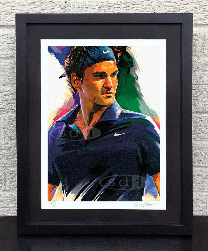 D'art Roger Tennis Sport Print Federer Affiche H2EID9W