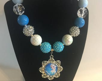 Elsa necklace ,chunky beads ,