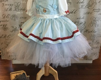 Dorothy in the wizard of Oz Halloween dress up performances