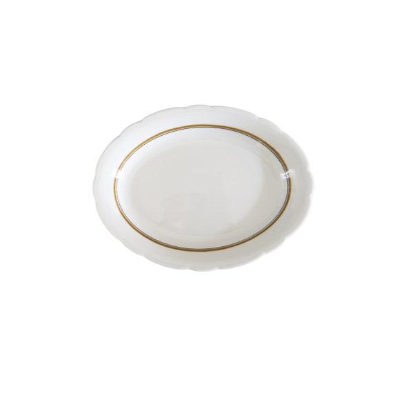 Vintage Buffalo China White Ceramic Restaurant Ware Oval Plate   Etsy