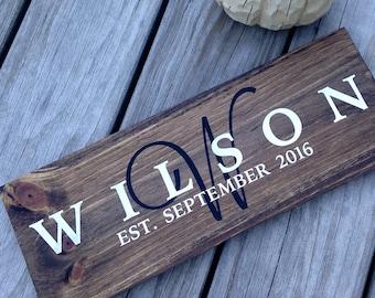 Custom Name Sign, Family Sign, Wooden Family Sign, Wooden Name Sign, Rustic Family Sign, Custom Wooden Sign, Custom Wedding Gift