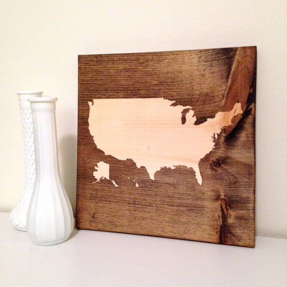 Map Sign Usa Sign United States Sign Wall Decor Custom Etsy