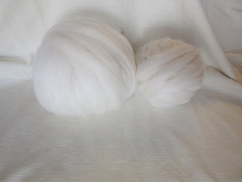 for Spinning Nuno Felting or Needlefelting 4 oz Pkg Roving Stachys White Alpaca ULTRA FINE