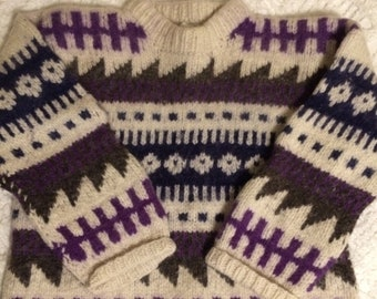 Woman's wool pullover sweater