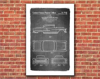 1955 Chevy Bel-Air Automobile Patent Art Print