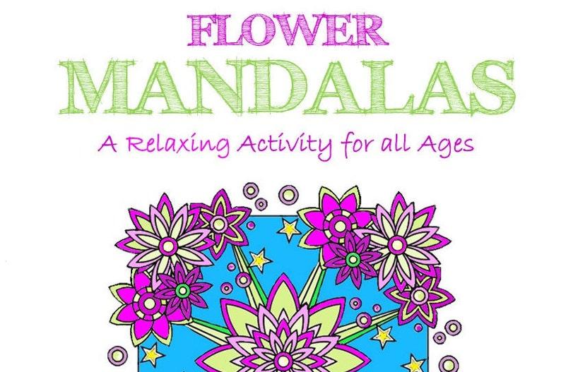 Flower Mandala Adult Coloring Book Mandala Coloring Book Pdf
