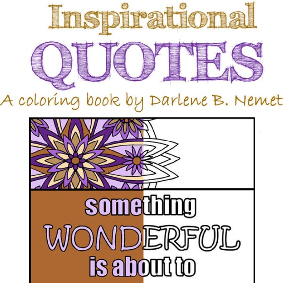 Inspirational Quote Coloring Book 25 Pages