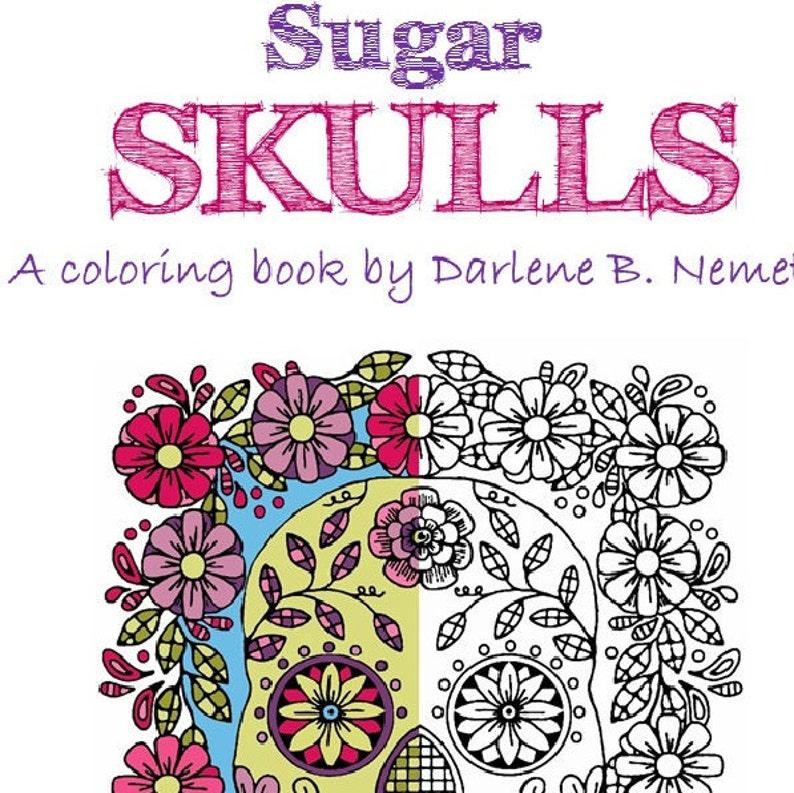 Sugar Skull Coloring Book, 25 Sugar Skull Coloring Pages, Sugar Skulls Wall  Art