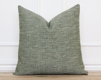 Green Tweed Pillow Cover |  Farmhouse Pillow Cover | Textured Pillow Cover | Decorative Pillow | Spring Pillow | 20 x 20 | 16 x 26 || Austin