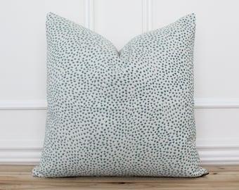 Aqua Dot Pillow Cover • Blue-Green Dot Pillow Cover • Polka Dot Cushion Cover • Designer Pillow Covers • Accent Pillow   Meredith