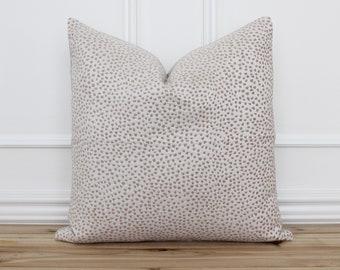 Pink Polka Dot Throw Pillow  • Custom Pillow Cover with Pink Dots • Farmhouse Pillows • Lumbar Pillow Cover • Sofa Accent Pillow   Haley