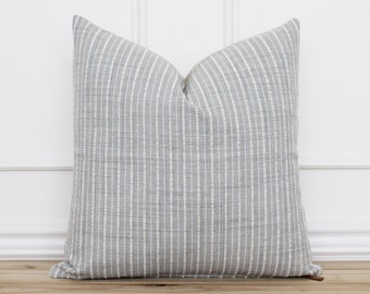 Gray and White Striped Pillow Cover • Throw Pillow Cover • Decorative Pillow Covers • Modern Pillow Cover • Lumbar Pillow Covers   Lila