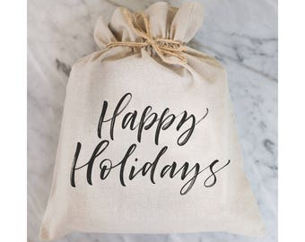 Happy Holidays Gift Bag // Gift Wrap // Packaging // Present // Party Favor // Gift Bag // Hostess Gift