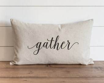 Gather 16 x 26 Pillow Cover // Fall // Autumn // Thanksgiving // Throw Pillow // Gift for Her // Accent Pillow