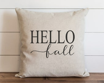 Hello Fall 20 x 20 Pillow Cover // Fall // Autumn // Thanksgiving // Throw Pillow // Gift for Her // Accent Pillow