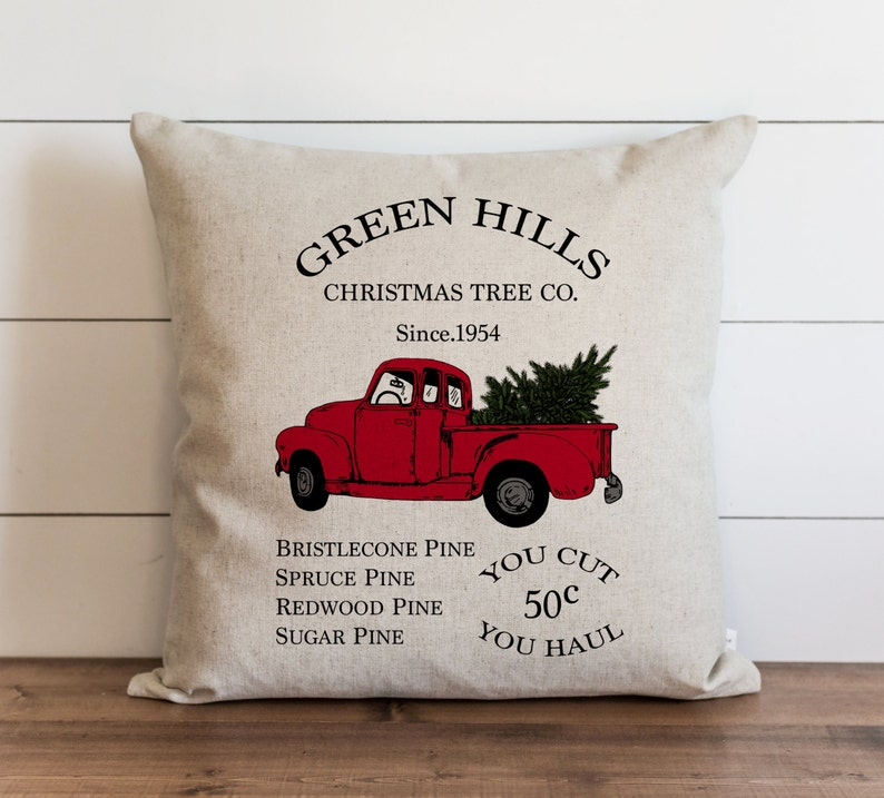 Green Hills Christmas Tree Co. 20 x 20 Pillow Cover // image 0