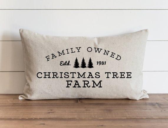 Christmas Pillow Cover Family Owned