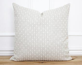 Dot Pillow Cover • Textured Pillow • Neutral Pillow Cover • Designer Pillow Covers •  Linen Pillow Cover • Decorative Pillow | Pearl