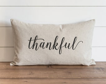 Thankful 16 x 26 Pillow Cover // Fall // Autumn // Thanksgiving // Throw Pillow // Gift for Her // Accent Pillow