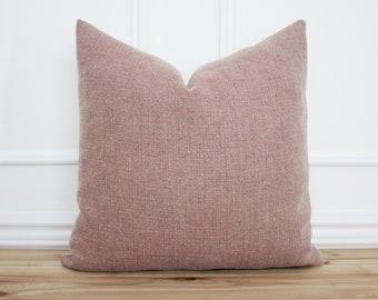 Stonewashed Linen Pillow Cover • 20 x 20 Pillow Cover •  Red Pillow • Designer Pillow •  Decorative Pillow • Throw Pillow || Lola