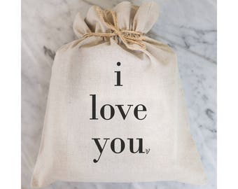 I Love You Gift Bag // Gift Wrap // Packaging Bag // Present // Party Favor // Wedding Favor // Gift Bag // Hostess Gift