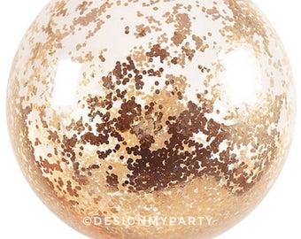 Rose Gold 1cm Large Jumbo Confetti Balloons, Copper Balloons, Rose Gold Balloons (3 Sizes Available) DMP080