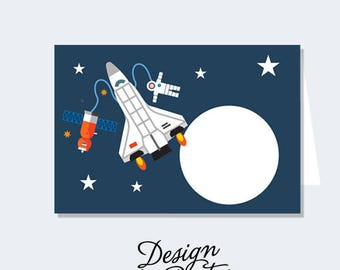 INSTANT DOWNLOAD Astronaut/Space Shuttle Buffet Labels/Place Cards (DIY Printables)