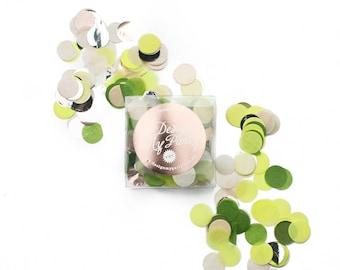 Lemon Twist w Lime Confetti - Rose Gold Copper