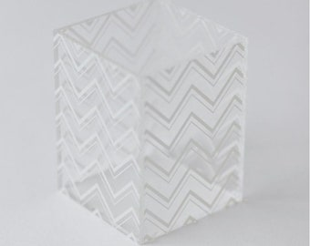 Acrylic chevron pencil cup