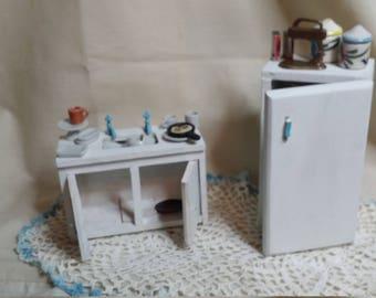 Kühlschrank Puppenhaus : Küche kühlschrank puppenhaus puppenstube möbel küche selten