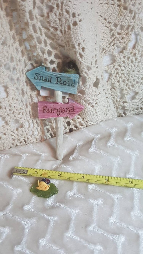The Witch Is In Sign Accessories Miniature Dollhouse FAIRY GARDEN