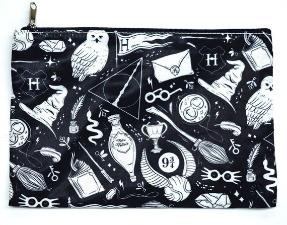 Harry Potter Wizard Pencil Cosmetic Makeup Zipper Bag by Etsy