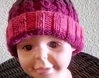 Toddler Knit Cable Hat