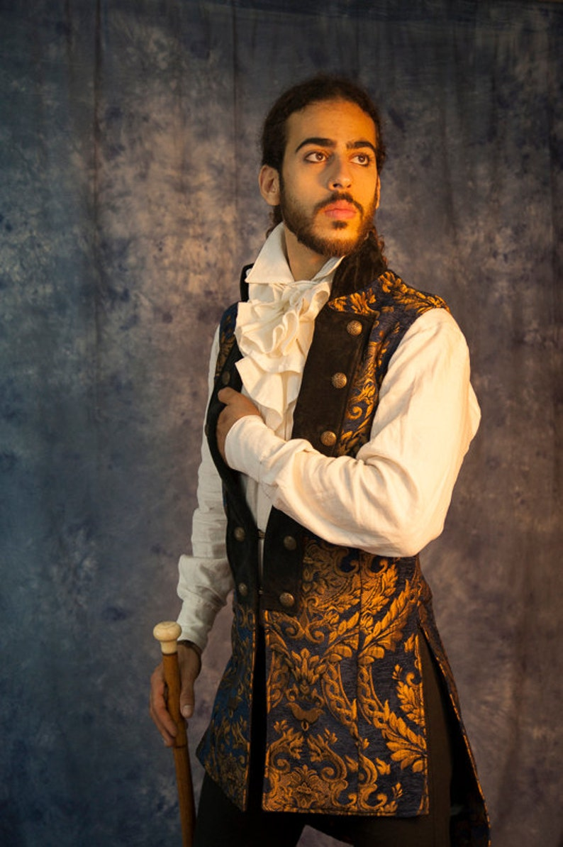 Men's Steampunk Vests, Waistcoats, Corsets Mens Coachmens vest $420.00 AT vintagedancer.com