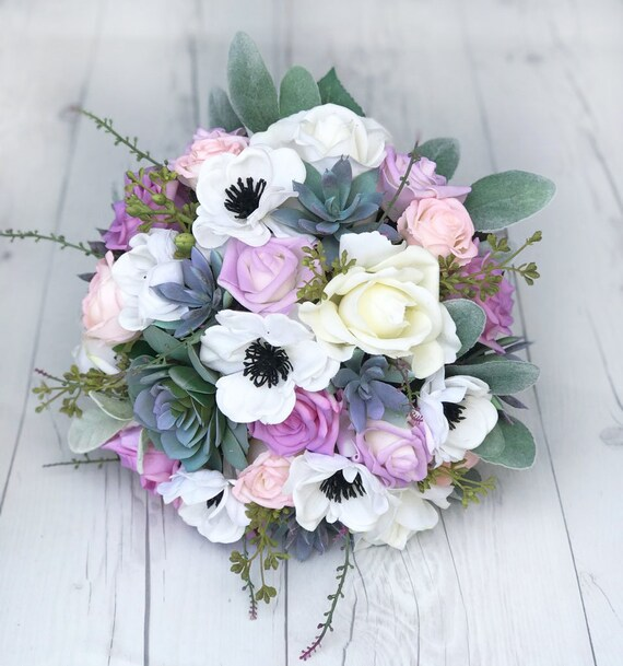 Bouquet Sposa Lilla.Succulenti Bouquet Bouquet Da Sposa Lilla Bouquet Di Lavanda Viola Bouquet Bouquet Rustico Garden Bouquet Bouquet Di Fiori Selvatici Seta
