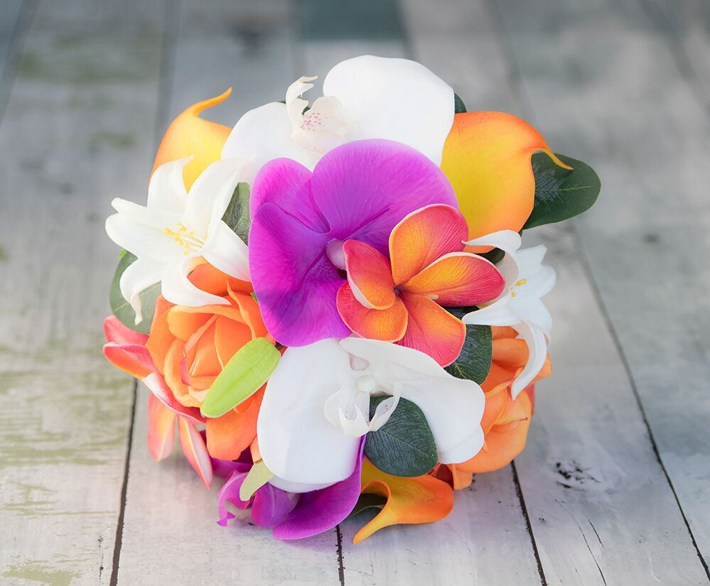 Silk Lilies Callas Roses Plumeria And Orchids Wedding Etsy