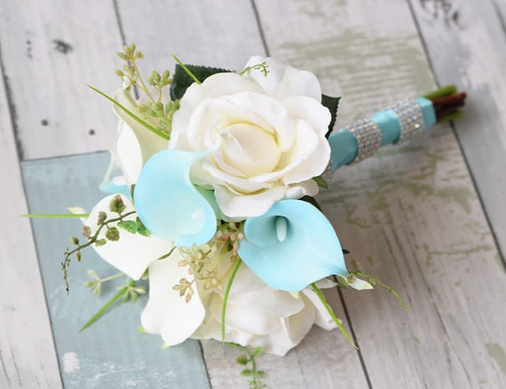 ideas for flower vase fillers with natural green flower.htm blue wedding bouquet silk wedding bouquet real touch etsy  blue wedding bouquet silk wedding