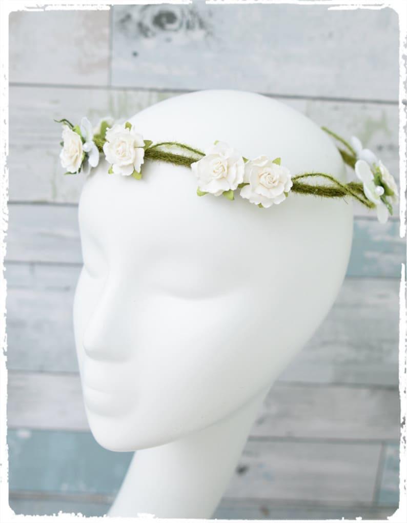 Rustic Wedding Bridal Headpiece Cream Wedding Headpiece Rustic Bridal Hair Rustic Headpiece Floral Headpiece Wedding Rustic Hair
