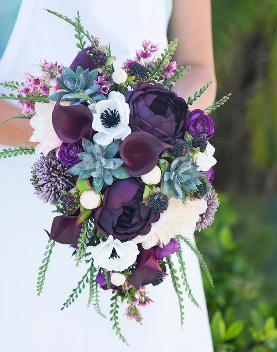 ideas for flower vase fillers with natural green flower.htm wedding bouquet succulent bouquet real touch bouquet boho etsy  wedding bouquet succulent bouquet real