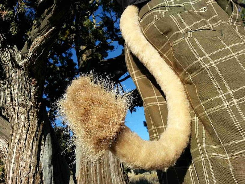 Lion Costume Tail 36 by AnthroWear Furry Clip-On Cosplay Accessories Hand made in USA