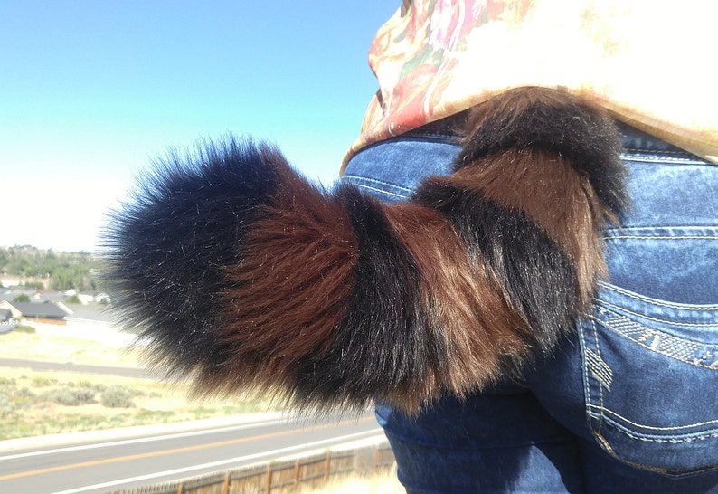 Furry Clip-On Cosplay Accessories Raccoon Costume Tails 22 33 44 by AnthroWear Hand Made in USA