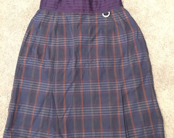 a9e42a8cde4f Vintage designer Christian Dior Sports lined plaid skirt size S