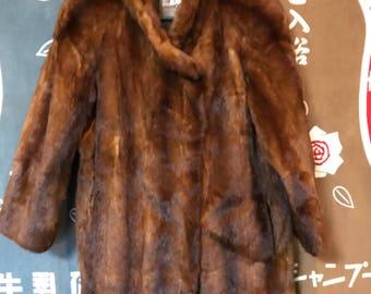 135478588496 Vintage red brown mink coat from Japan Emba